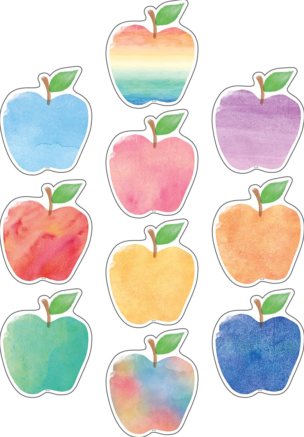 Watercolor Apples Accents
