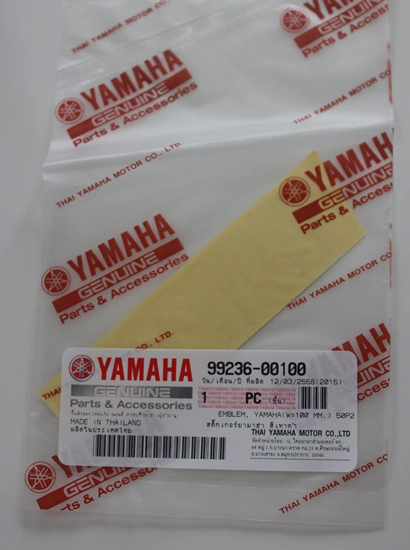 Genuine Yamaha Decal Sticker Emblem Logo 100MM X 23MM Metallic Silver Self Adhesive Motorcycle//Jet Ski//ATV//Snowmobile Yamaha 99236-00100