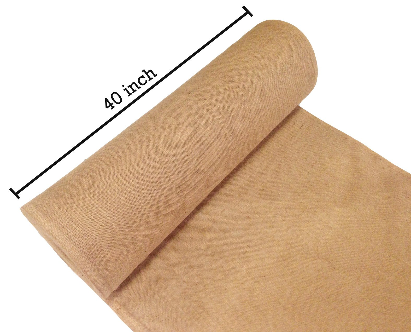 Sandbaggy Burlap Fabric Roll- for Garden, Yard, Wedding, Craft, Decorating Tables - 40 inch x 300 ft (1) by Sandbaggy (Image #3)