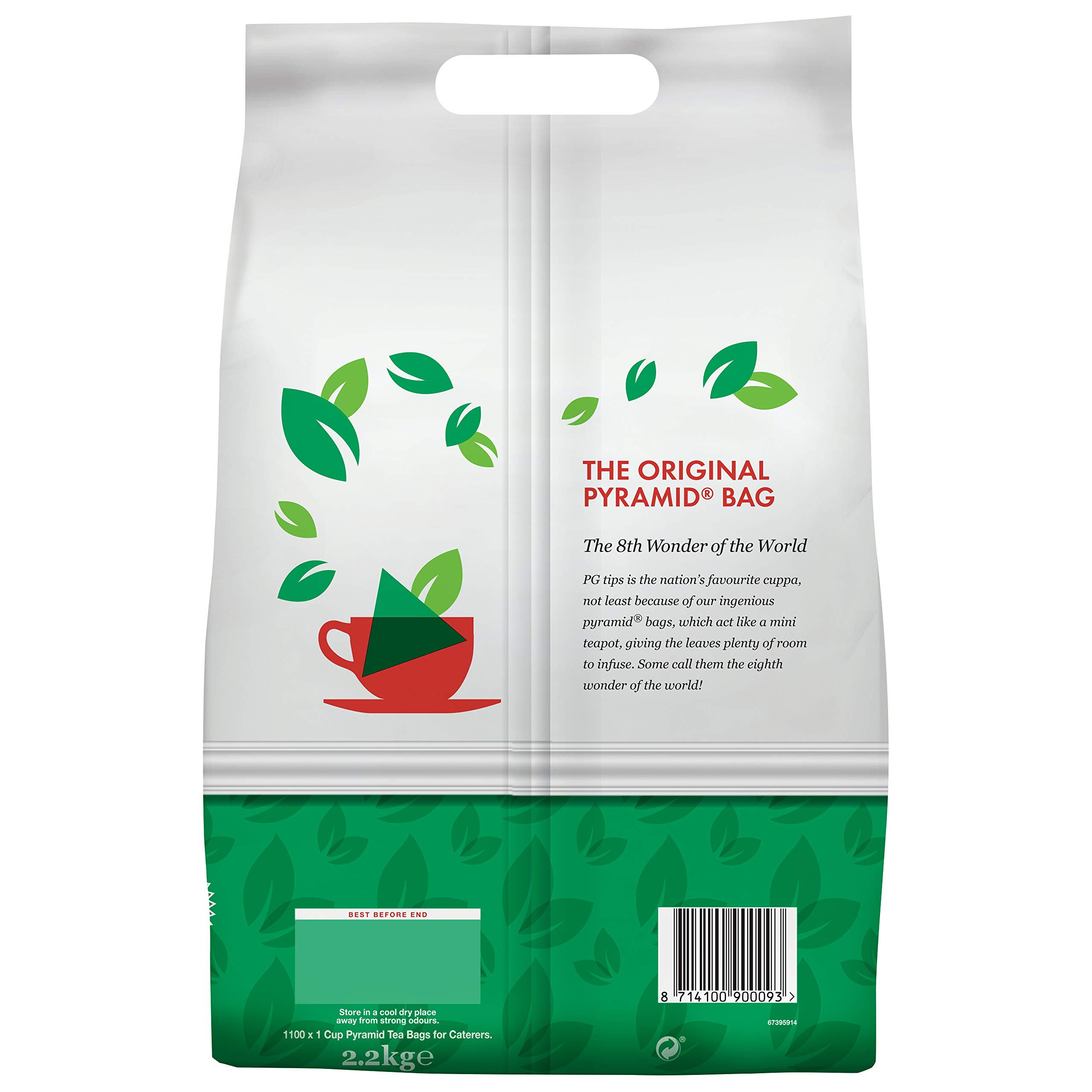 PG Tips One Cup Pyramid Tea Bags (Pack of 1, Total 1100 Tea Bags) by PG Tips (Image #3)