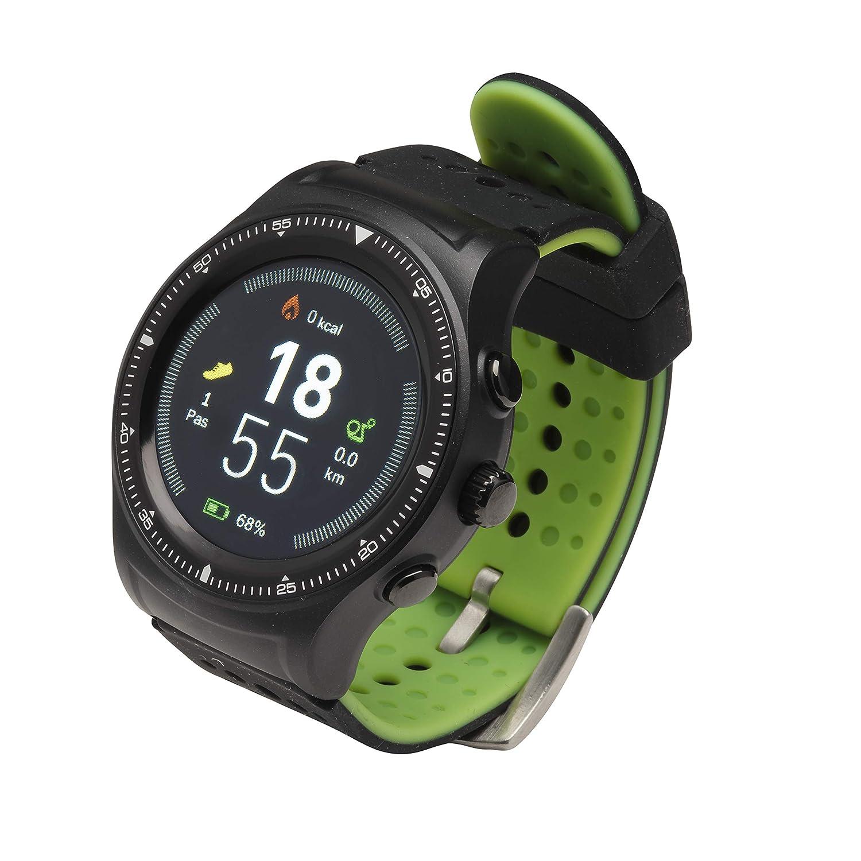 Denver Sw-500 Smartwatch con GPS y Bluetooth, Adultos Unisex, Negro, Talla única