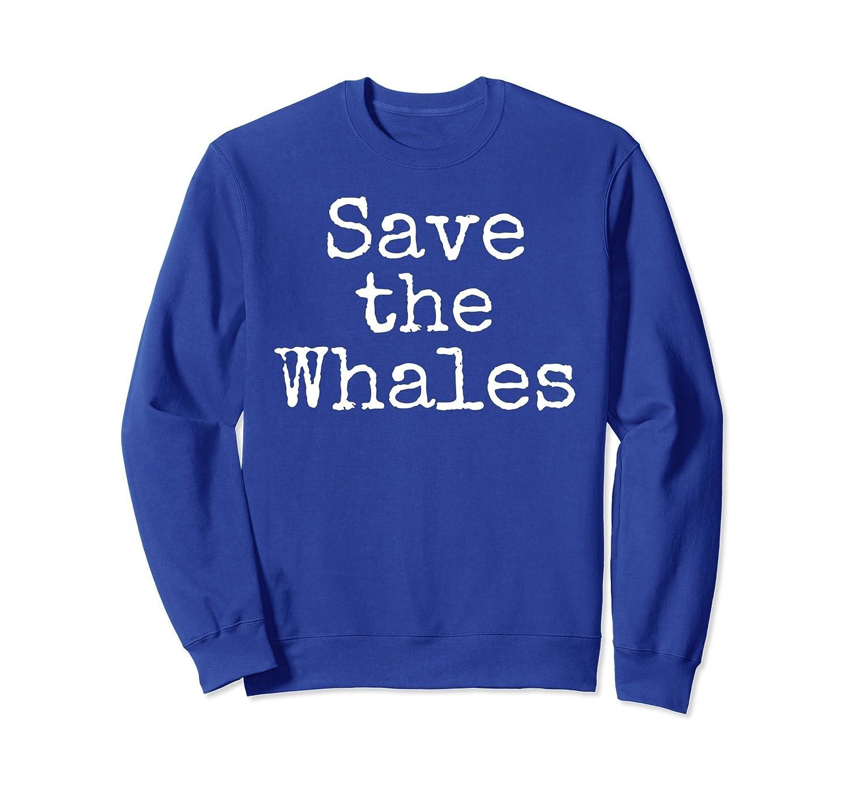 Save the Whales Sweatshirt Ocean Conservation Crewneck Women-ln