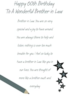 Brother In Law 60th Birthday Card