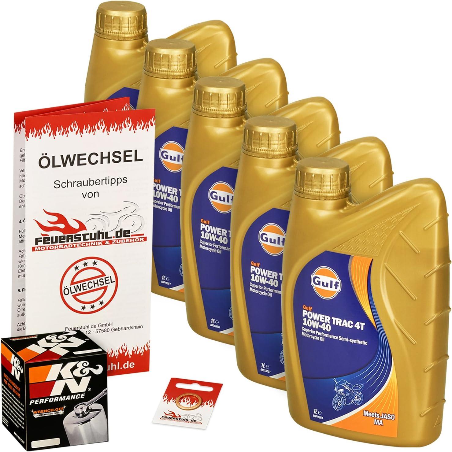 Gulf 10w 40 Öl K N Ölfilter Für Yamaha Xv 1600 Wild Star 99 04 Vp08 Ölwechselset Inkl Motoröl Chrom Filter Dichtring Auto