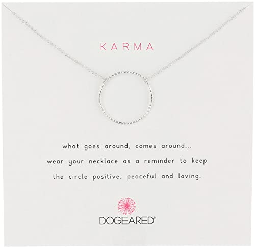 Dogeared Jewels & Gifts Sparkle Karma Medium Sparkle Karma Silver Necklace