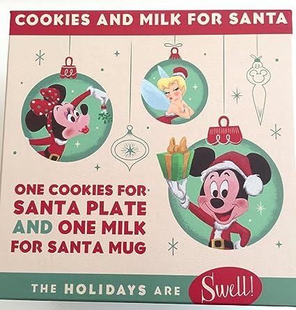 disney park retro holiday christmas mickey mouse plate mug cookies for santa set - Mickey Mouse Christmas Cookies