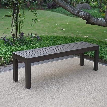 Wondrous Cambridge Casual 817140 Alfresco Backless Bench Dark Grey Pabps2019 Chair Design Images Pabps2019Com