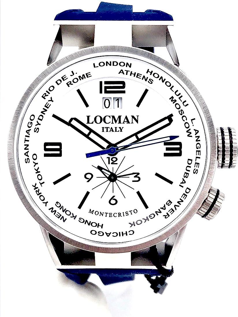 Locman montecristo dual time cinturino blu quadrante bianco 0508a8s-00whbksb