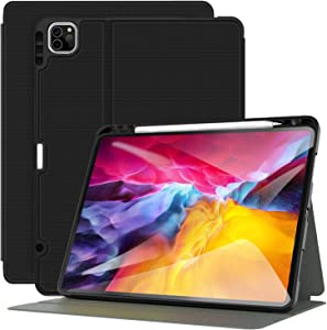 Supveco iPad Pro 11 Case 2020 with Pencil Holder, iPad 11 Inch Case Cover with Auto Sleep/Wake & Support 2nd Gen Pencil Charging, iPad Case for iPad Pro 11 Inch 2nd & 1st Generation 2020/2018