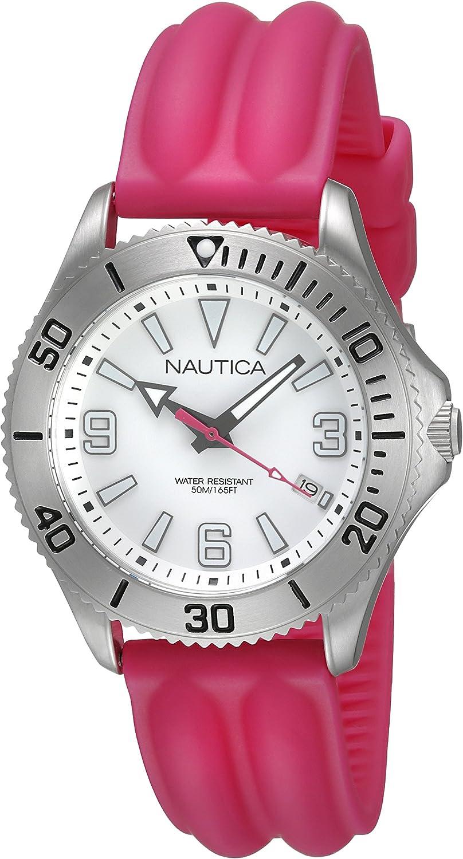 Nautica A11531M - Reloj de Cuarzo para Mujeres, Color Rosa