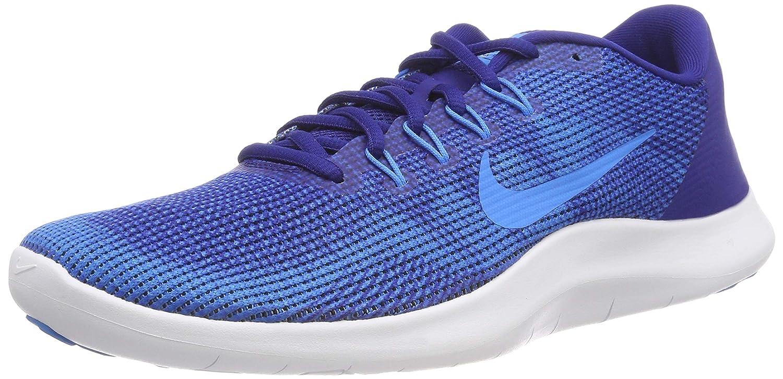 Nike Herren Laufschuh Flex Run 2018, Zapatillas de Running para Hombre 47 EU|Multicolor (Deep Royal Blue/Blue Hero/White 401)