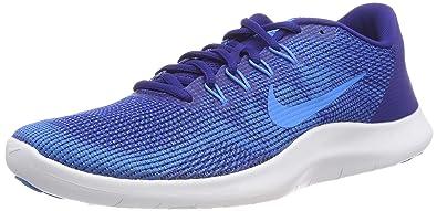 new product f6ca8 18c0b Nike Flex 2018 RN, Sneakers Basses Homme, Multicolore (Deep Royal Blue Hero/