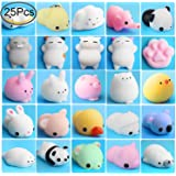 Squishy Animals, Outee 25 Pcs Mochi Squishies Stress Toys Squishy Mochi Animals Soft Squishy Toys Mochi Animal Stress Toys Squishy Squeeze Toys Animals Stress Relief Cat Toy Mochi Squishy Stress Cat Mochi Stress Squishy Toys, Random Color