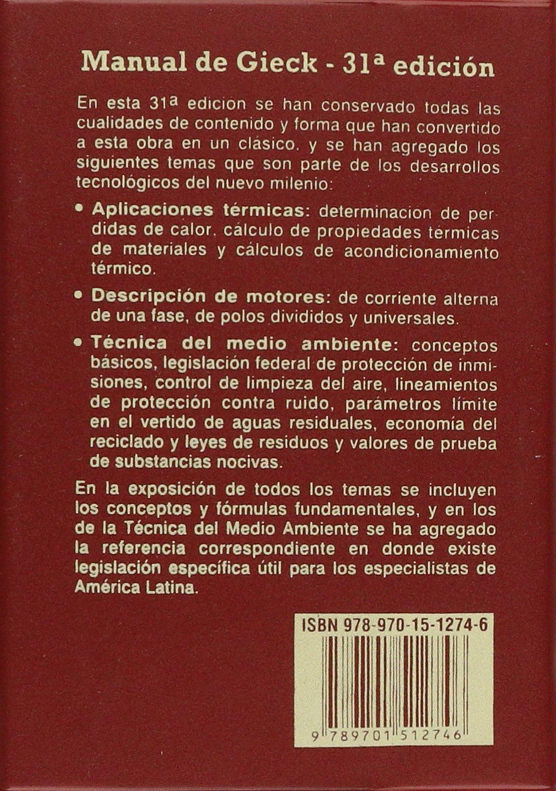 DE GIECK FORMULAS TECNICAS MANUAL BAIXAR