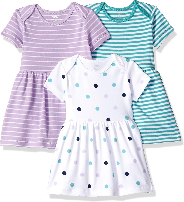 Amazon Essentials - Pack de 3 vestidos para niñas