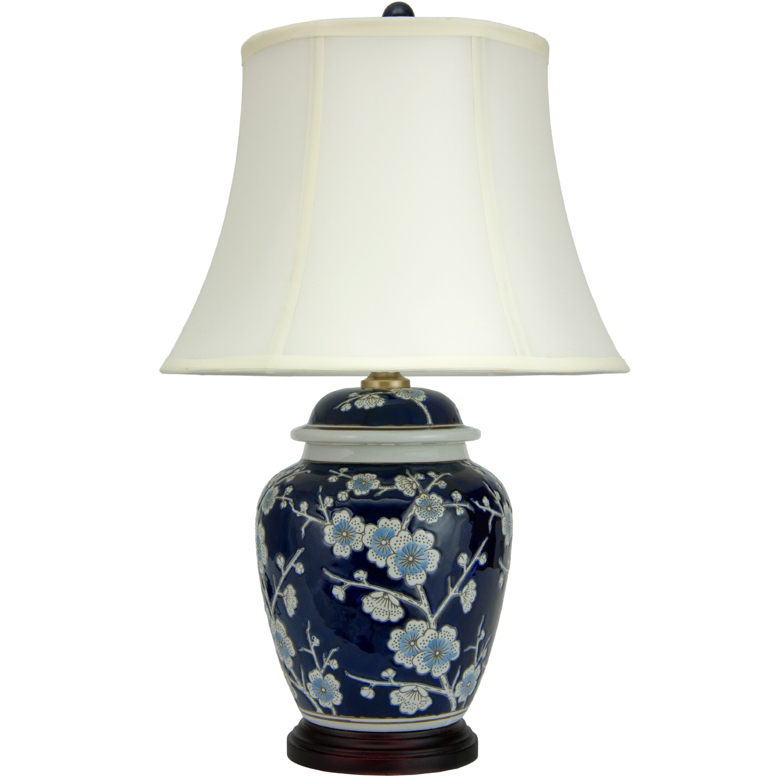 Oriental Furniture 22'' Blue Cherry Blossom Lamp