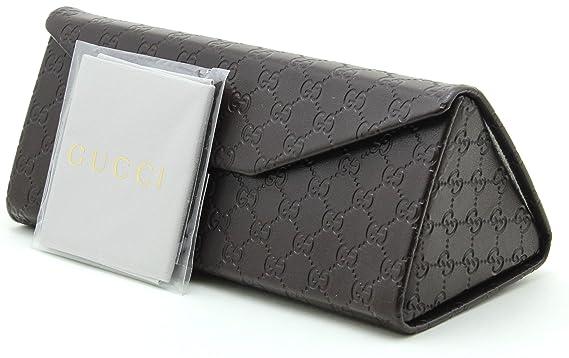 Amazon.com: Gucci Tri-fold Funda de piel de anteojos de sol ...