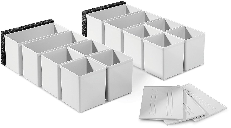Festool Lot de 12 ré cipients en plastique 60 x 60/120 x 71 Blanc 201124