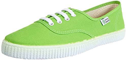 Natural World INGLES - Zapatillas de casa de lona infantil, color verde, talla 30: Amazon.es: Zapatos y complementos