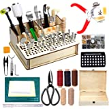 447 Pieces Leather Working Tools and Supplies with Instruction, Leathercraft Tools Kit, Leathercraft Tools Holder…