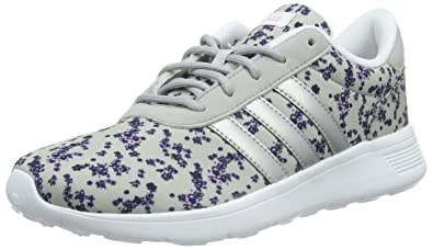 lowest price 0b8f9 1baa0 adidas Lite Racer, Sneakers Basses femme, Multicolore (Clear Onix Matte  Silver