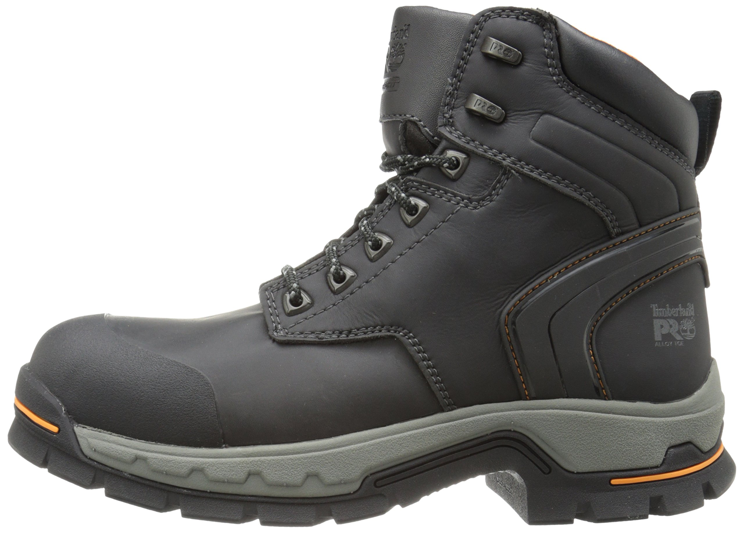 Timberland PRO Men's 6 Inch Stockdale Grip Max Alloy Toe Work and Hunt Boot, Black Microfiber, 5.5 W US by Timberland PRO (Image #5)