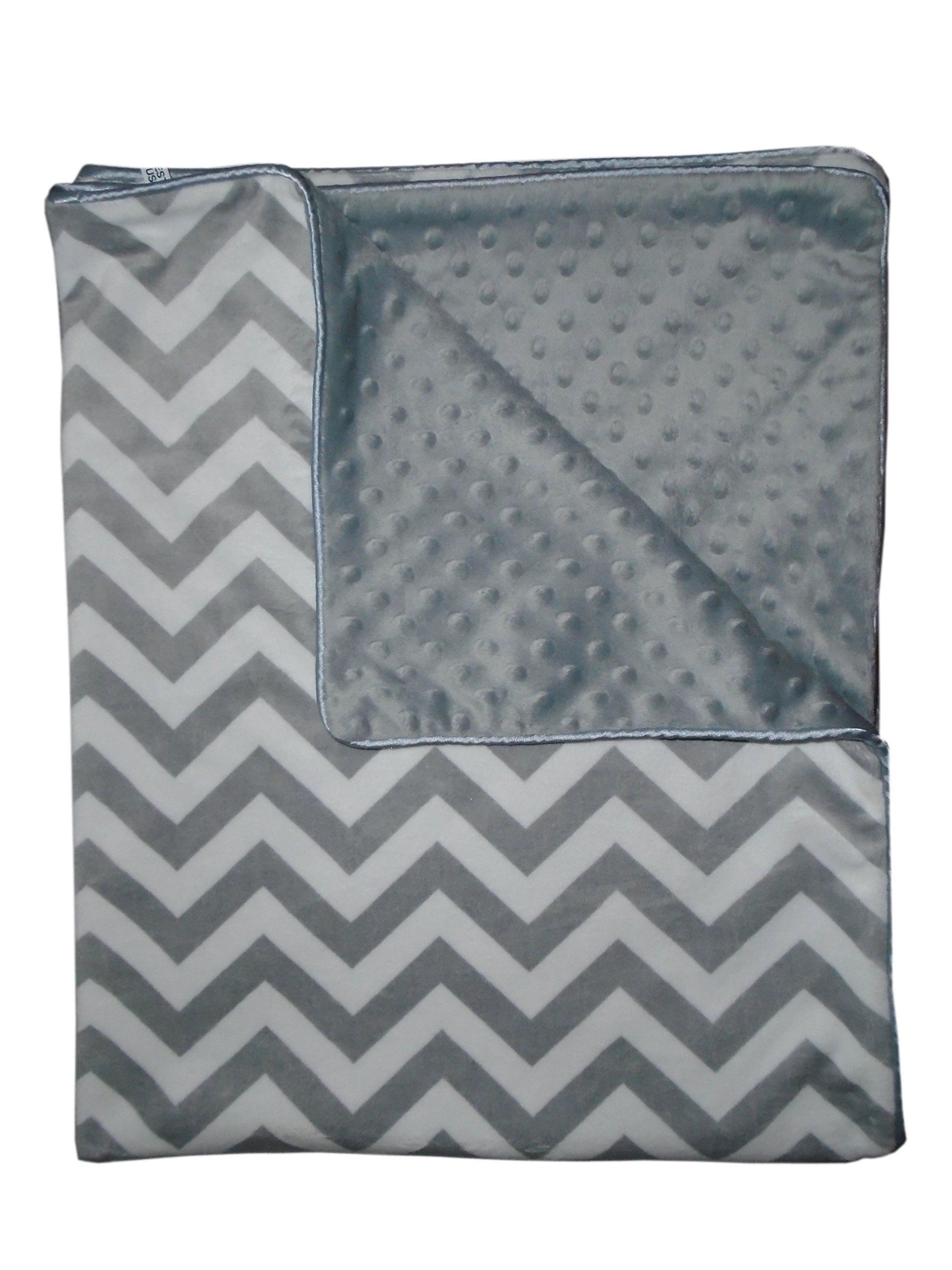 Baby Doll Minky Chevron Crib Comforter, Grey