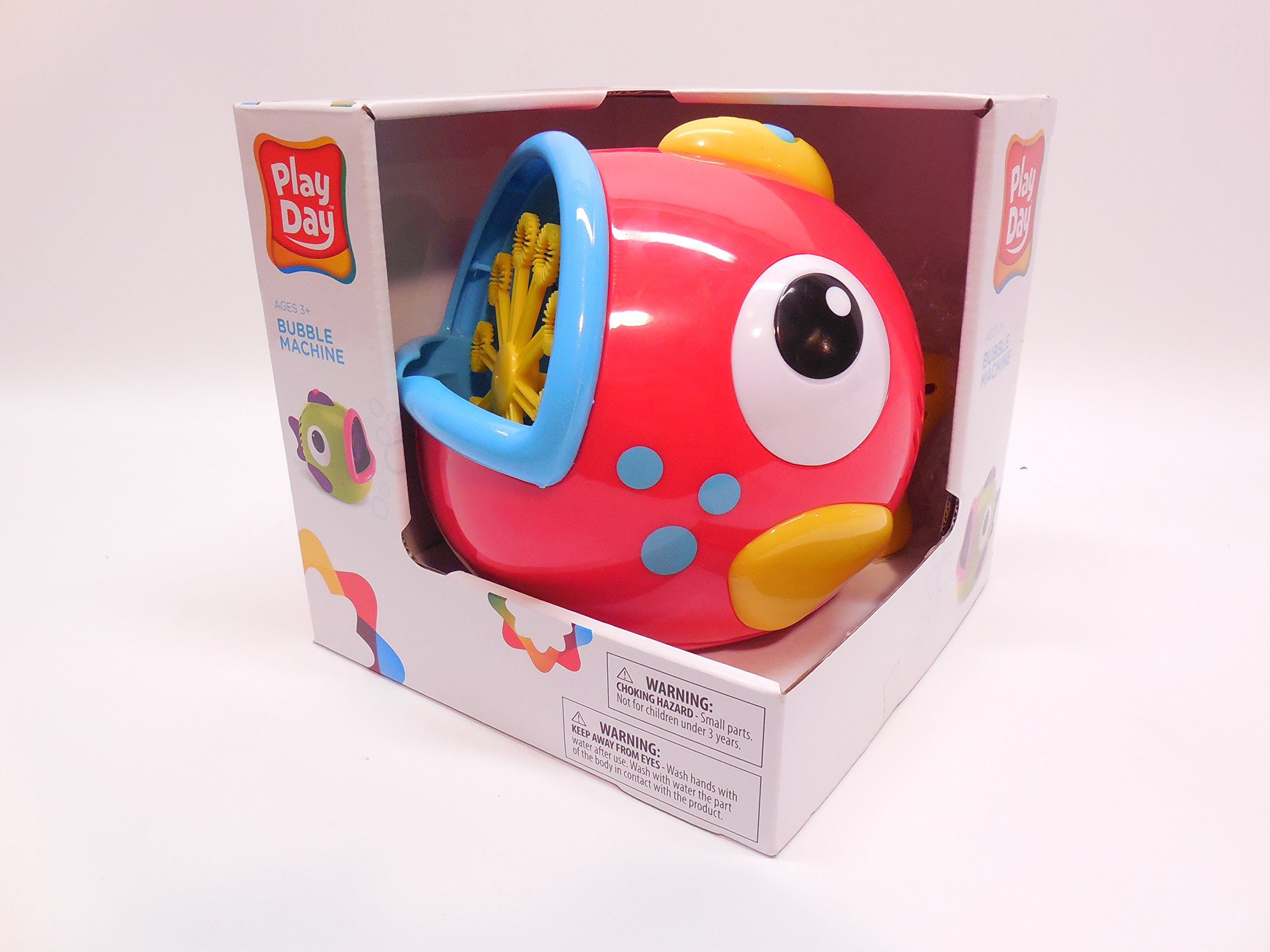 Play Day Red Fish Bubble Blowing Machine Toy by Play Day