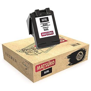 Matsuro Original | Compatible Remanufactured Cartucho de Tinta Reemplazo para HP 62XL 62 (1 Negro)