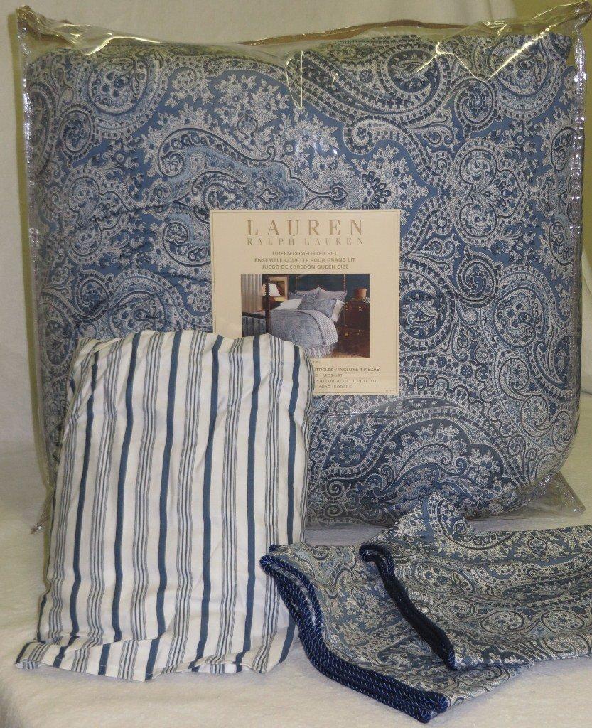 Delightful Lauren By Ralph Lauren Townsend Blue Paisley 4 Piece QUEEN Comforter Set:  Amazon.ca: Home U0026 Kitchen