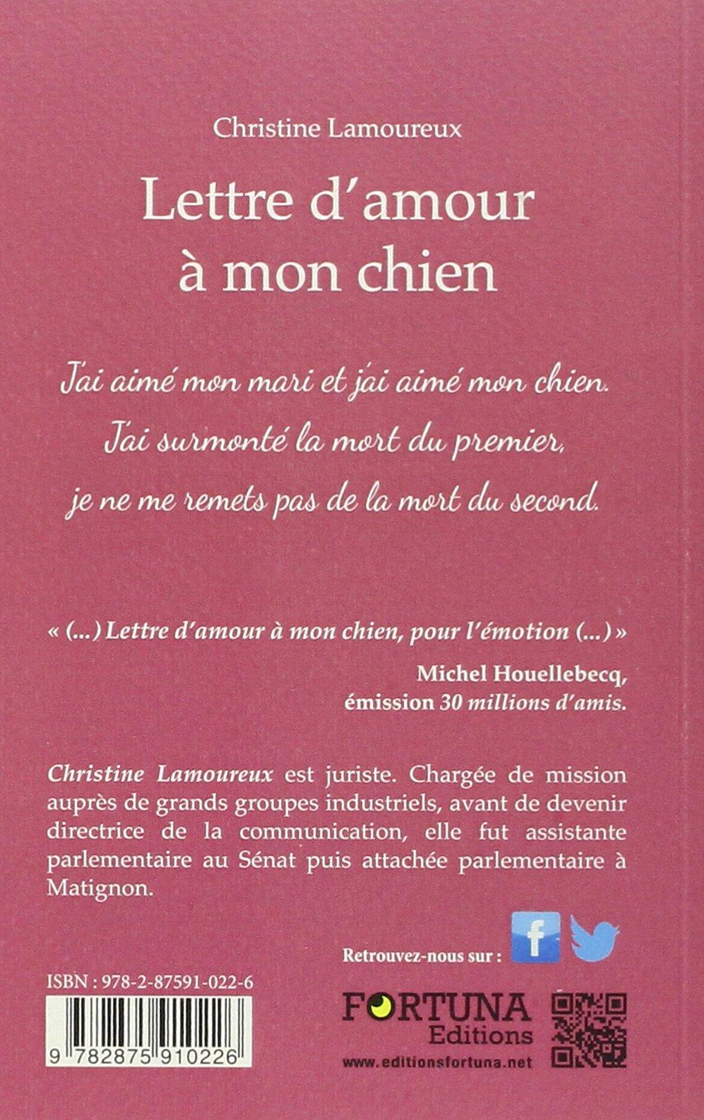 Lettre Damour à Mon Chien Christine Lamoureux