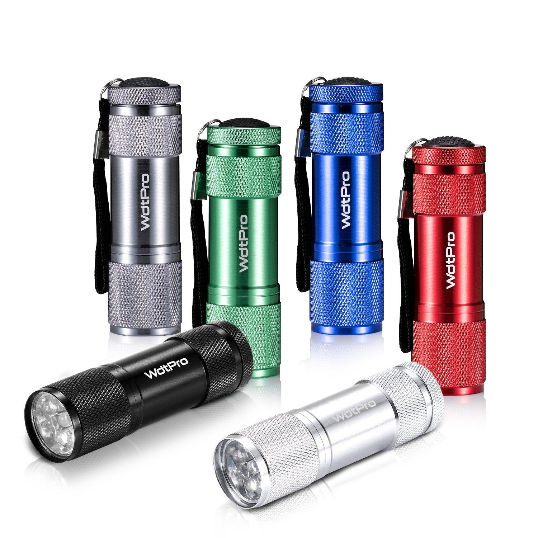 6 flashlights