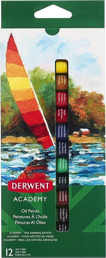 DERWENT 2302406 - Pack de 12 tubos pintura óleo de 12ml: Amazon.es ...