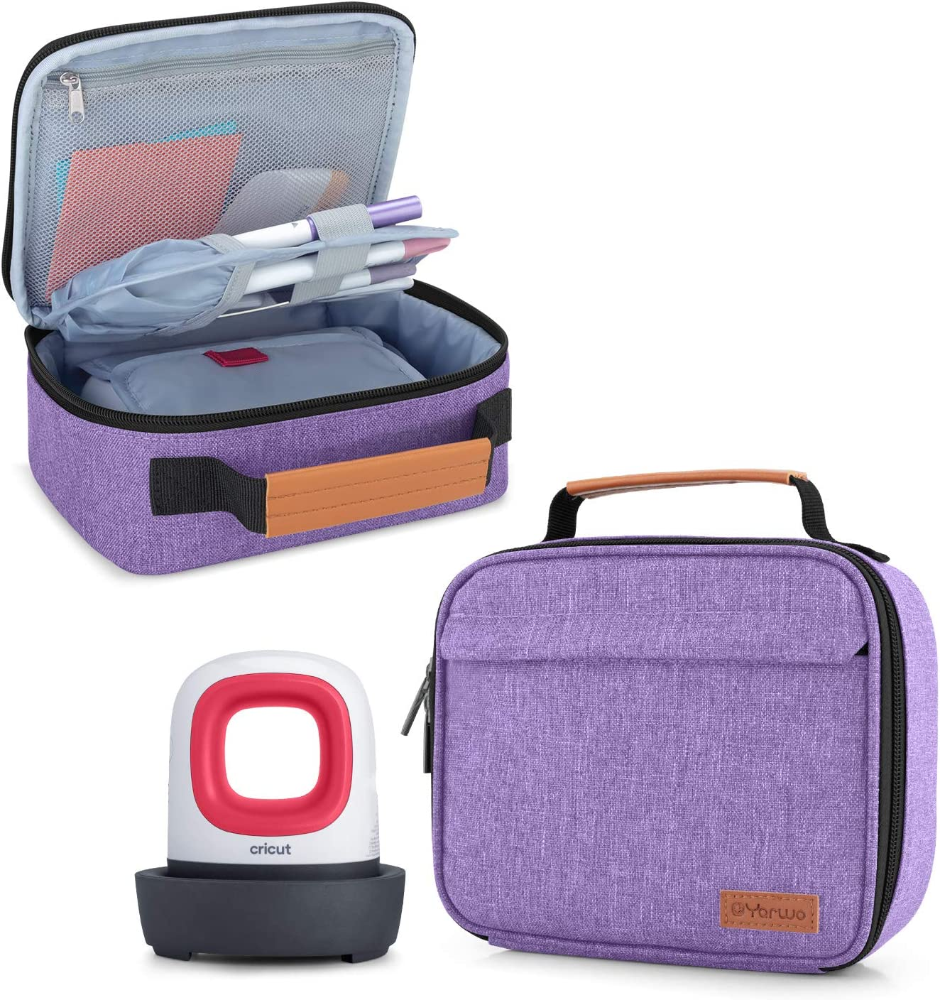 Yarwo Carrying Case for Cricut Easy Press Mini Portable Tote Bag Compatible with Heat Press Machine and Tools Purple