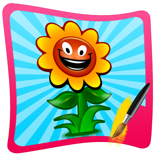 Flower Coloring Learning Fun (Board Flowers Painting)