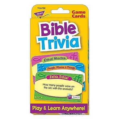 Trend Enterprises Bible Trivia Flash Cards: Toys & Games