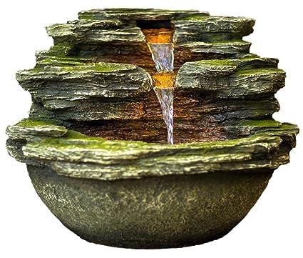 Amazon Com 18 Multnomah Waterfall Rock Fountain W Led Lights