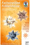 Ursus Bandes de papier pour étoiles de Fröbel, Orange/blanc