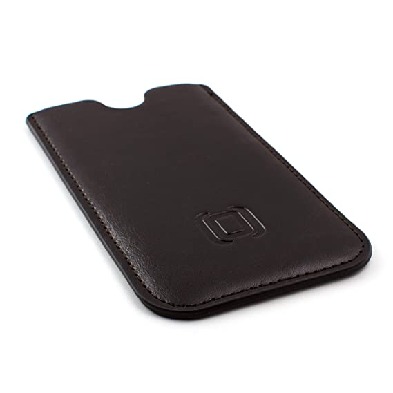 buy popular 07f3a 65e8f Dockem Executive Sleeve for Samsung Galaxy S8 Plus and S9 Plus - Slightly  Padded Microfiber Lined Professional Synthetic Leather Case, Slim [Dark ...