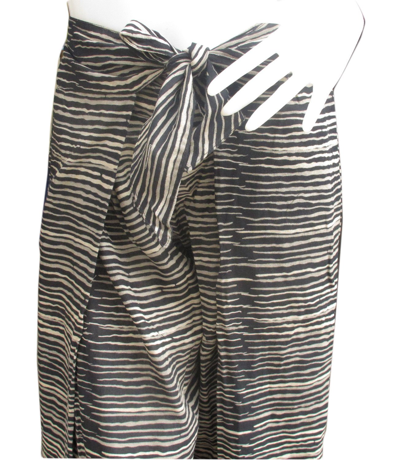 thai danai Presents.Free shpping Fashionable Fine Cotton Pant Tiger Printed Free Size Fit For 26-34 inches Long 40 inches by Thai (Image #3)