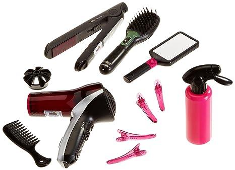 Theo Klein-5873 Mega Set de peluquería con Cepillo, secador Plancha de Pelo de