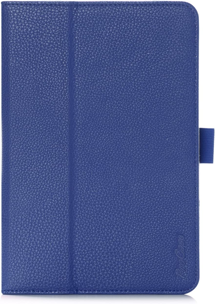 ProCase Galaxy Tab S2 8.0 Case - Stand Folio Cover Case for 2015 Galaxy Tab S2 Tablet (8.0 inch, SM-T710 / T715), with Hand Strap, auto Sleep/Wake (Navy Blue, Dark Blue)