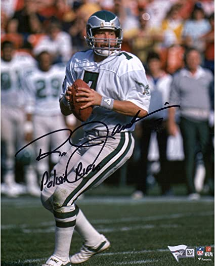 6dc0f12016b Ron Jaworski Philadelphia Eagles Autographed 8 quot  X 10 quot  Vertical  White Passing Photograph with quot