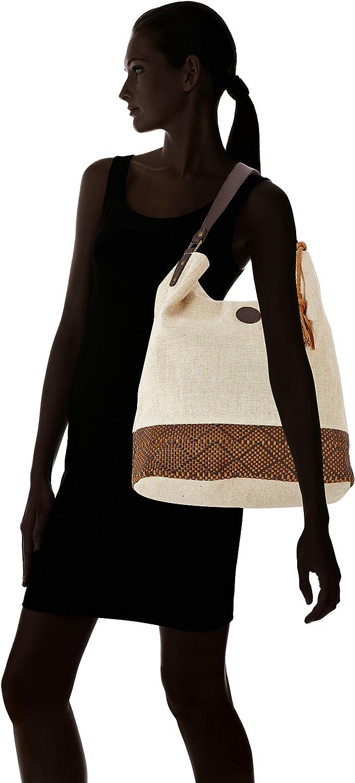 Timberland Damen Satchel Bag Schultertasche, 18x42x36 centimeters Beige (British Khaki)