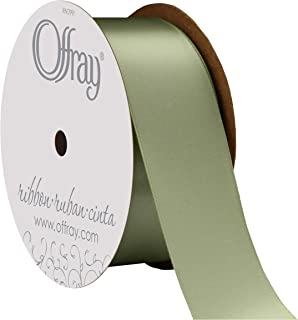 """product image for Offray Berwick 1.5"""" Single Face Satin Ribbon, Spring Moss Green, 10 Yds"""