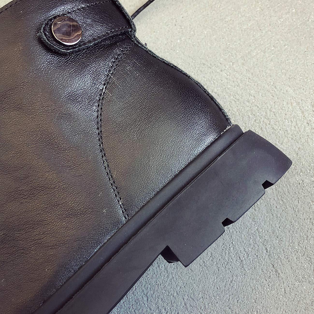 ZHRUI ZHRUI ZHRUI Schnürstiefel aus Leder im britischen Stil mit Schnürung aus Leder (Farbe   schwarz K Größe   4 UK) a68306