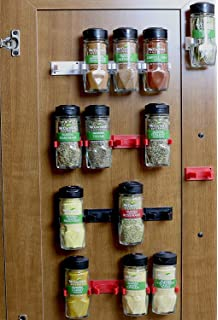 DecoBros 30 Spice Gripper Clips Strips Cabinet Holder   6 Strips, Holds 30  Jars