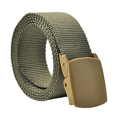 Militaire Ceinture en nylon Homme Femme avec double boucle en plastique  (prévenir les allergies) 85cacd7d9d1