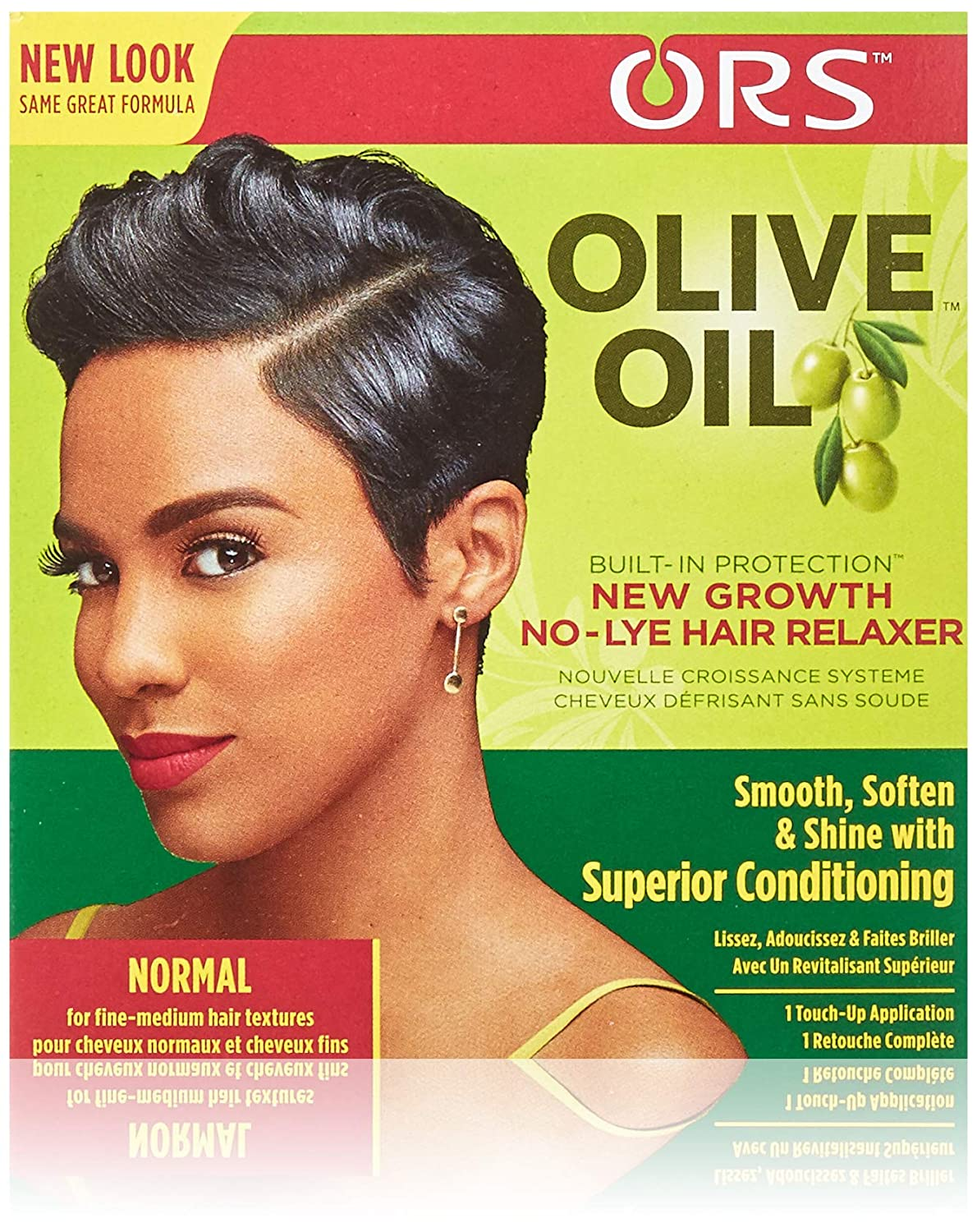 Ors Organic Root Stimulator Olive Oil New Growth Relaxer Normal, 1 Ea, 1count