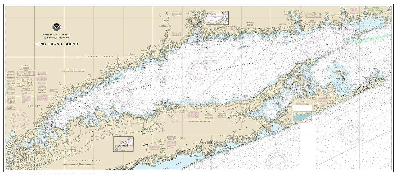 Amazoncom Long Island Sound 2017 Nautical Map Connecticut New - Long-island-on-us-map